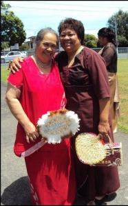 Mum in red and Aunty Lupe