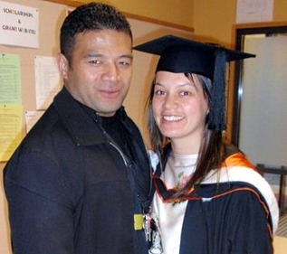 Beautiful couple at Rachael's Graduation Ceremony